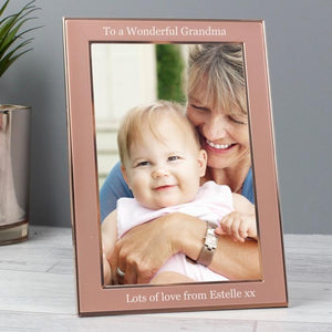 Personalised Rose Gold 4x6 Frame