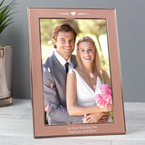 Personalised Rose Gold Heart 4x6 Frame