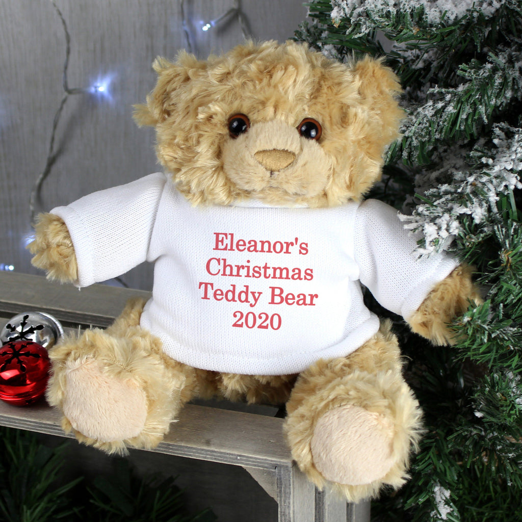 Personalised Christmas Message Bear Memento