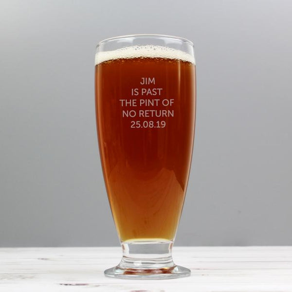 Personalised Classic Craft Ale Beer Glass