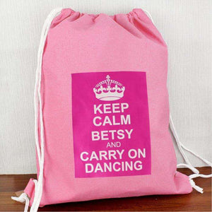 Personalised Pink Keep Calm Swim & Kit Bag