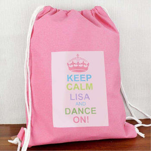 Personalised Pastel Keep Calm Swim & Kit Bag