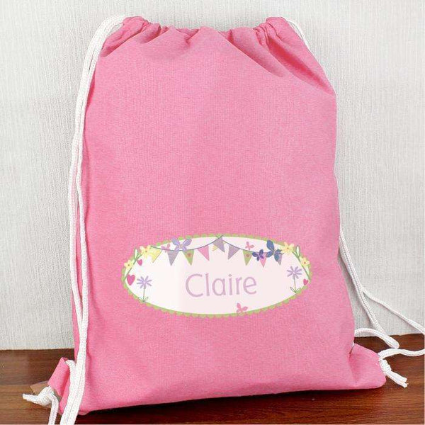 Personalised Garden Bunting Swim & Kit Bag