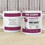 Personalised Vintage Football Claret Supporter's Mug
