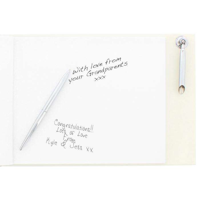 Personalised Hardback Guest Book & Pen Swirl Design