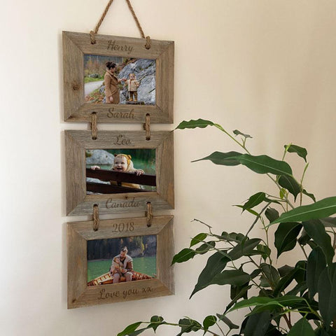 3 Tier Wooden photo frame