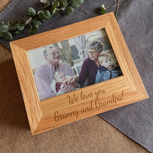Personalised Engraved Oak Photo Keepsake Box