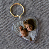 Personalised Heart Plastic Photo Keyring