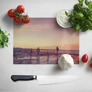 Personalised Photo Glass Chopping Board Worktop Saver