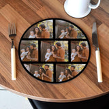 Personalised Photo Collage Placemat Round