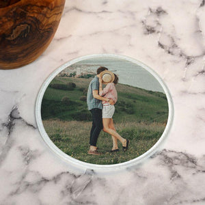 Personalised Round Glass Photo Coaster