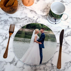 Personalised Photo Mug, Coaster & Placemat Set