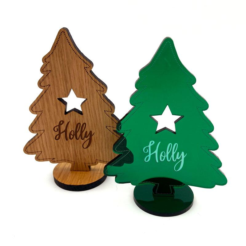 Personalised Christmas Tree Free Standing Decoration