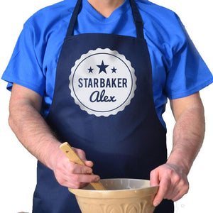 Personalised Printed Star Baker Apron