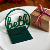 Personalised Christmas Dinner Table Decoration Name Cut Out