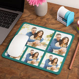 Personalised Photo Collage Mousemat 5 Images Teal