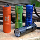 Personalised Metal Pocket Torch Multiple Colours Engraved Name Torch Always Personal