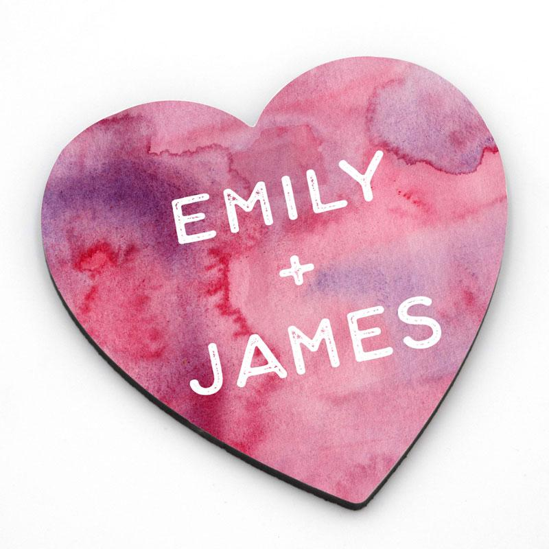 Personalised romantic heart coaster