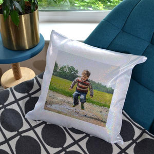 Personalised Glitter Sparkly Photo Cushion