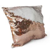 Personalised Sequin Reveal Photo Cushion Reversible Sequins - Multiple Colours Available