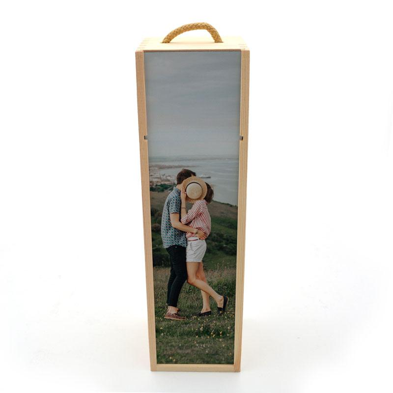Personalised Photo Wooden Wine Box Wine Box Always Personal