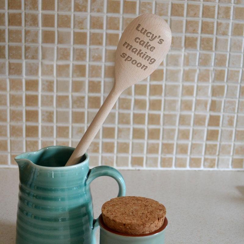 Personalised Wooden Spoon Any Message