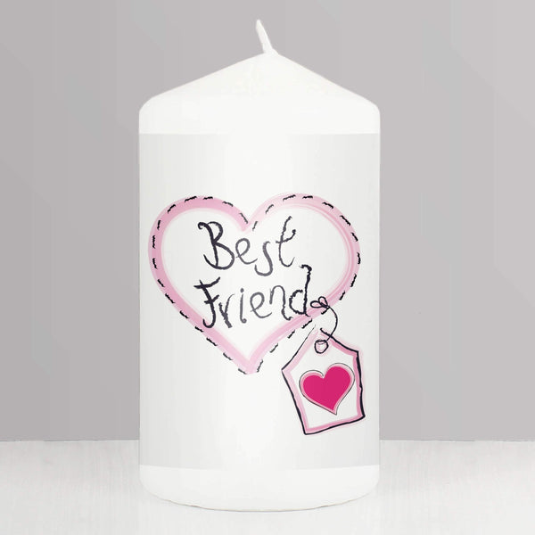 Best Friend Candle Heart