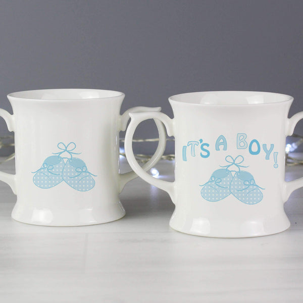 Bootee Loving Mug Blue Its a Boy