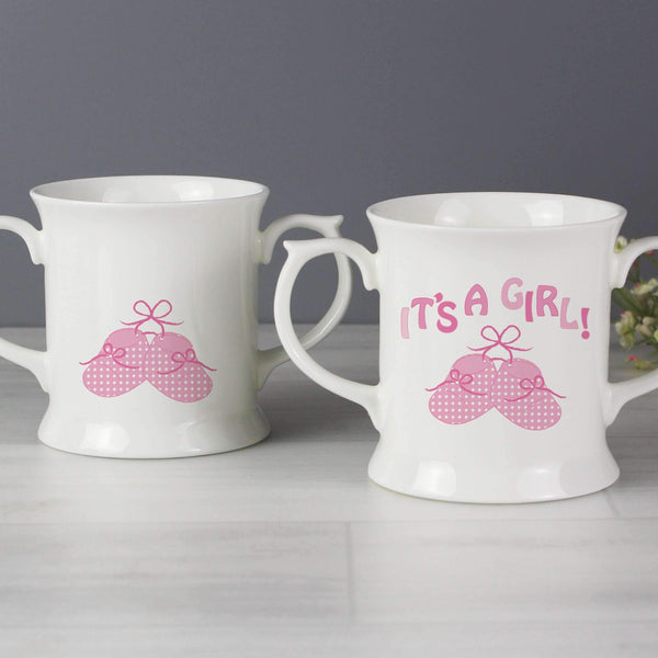 Bootee Loving Mug Pink Its a Girl
