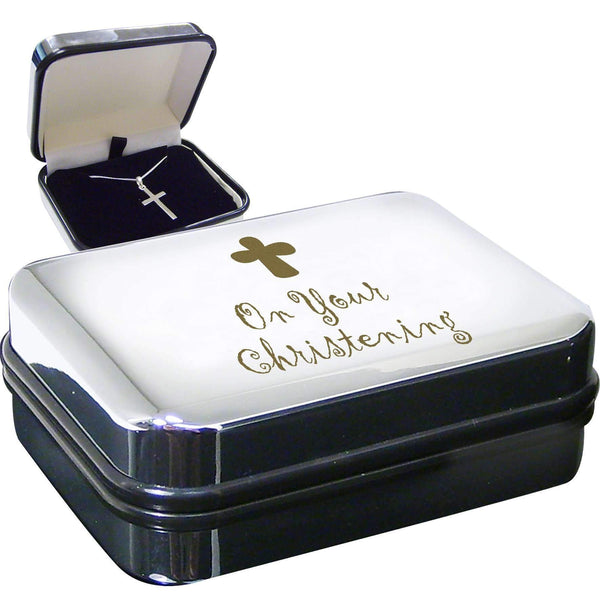 Christening Cross Necklace Box