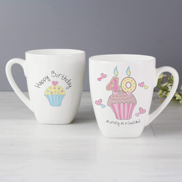 Cupcake 40th Birthday Latte Mug