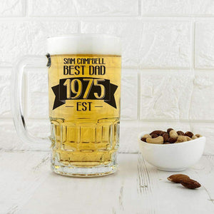 Dad Established In Beer Glass Tankard