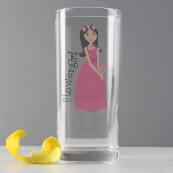 Fabulous Flower Girl Hi Ball Glass