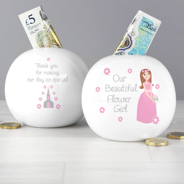 Fabulous Flower Girl Money Box
