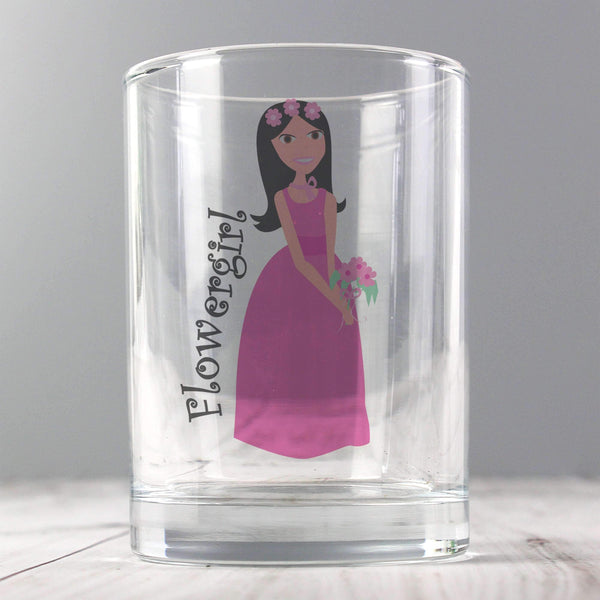 Fabulous Juice Glass Flower Girl