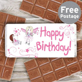 Fairy Birthday Milk Chocolate Bar