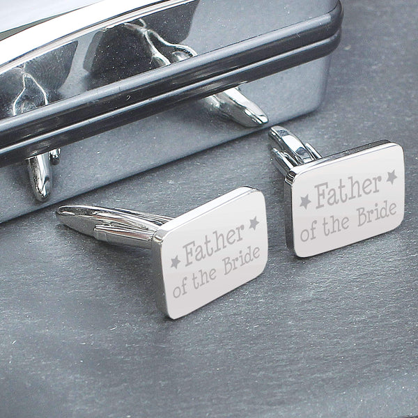 Father of Bride Cufflinks in Case