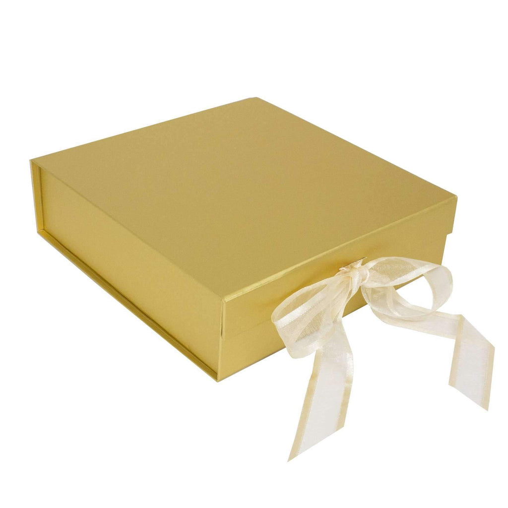 Gold Presentation Gift Box - Suitable for 8 Inch Plates