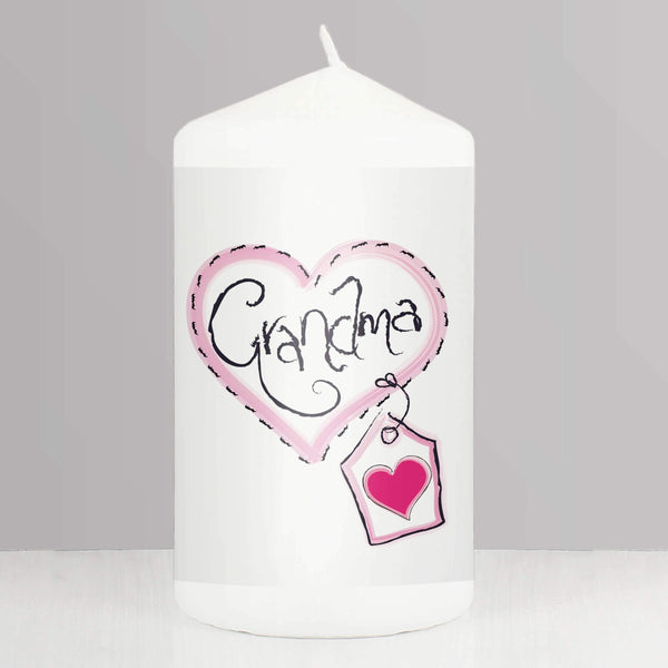 Grandma Heart Stitch Candle