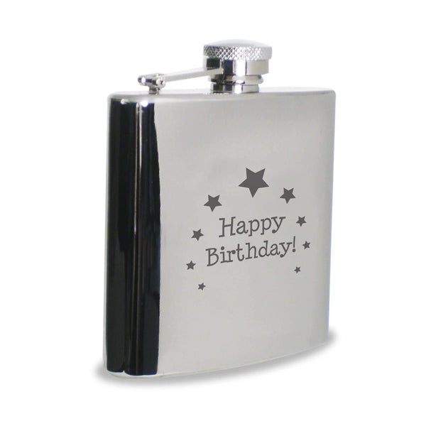 Happy Birthday Hip Flask