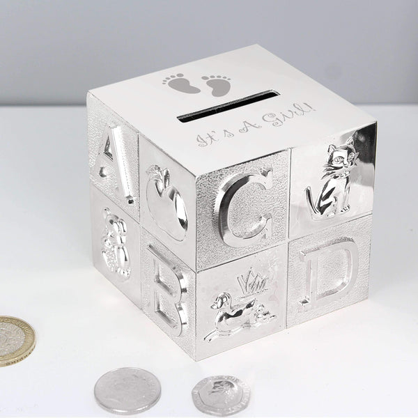 Its A Girl ABC Money Box