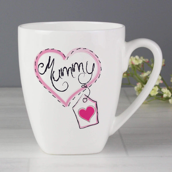 Mummy Heart Stitch Latte Mug