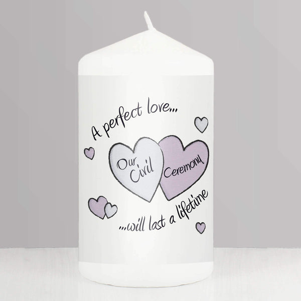 Perfect Love Civil Ceremony Candle