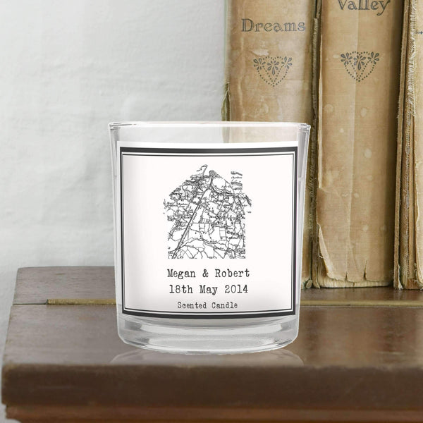 Personalised 1805 - 1874 Old Series Map Home Scented Jar Candle