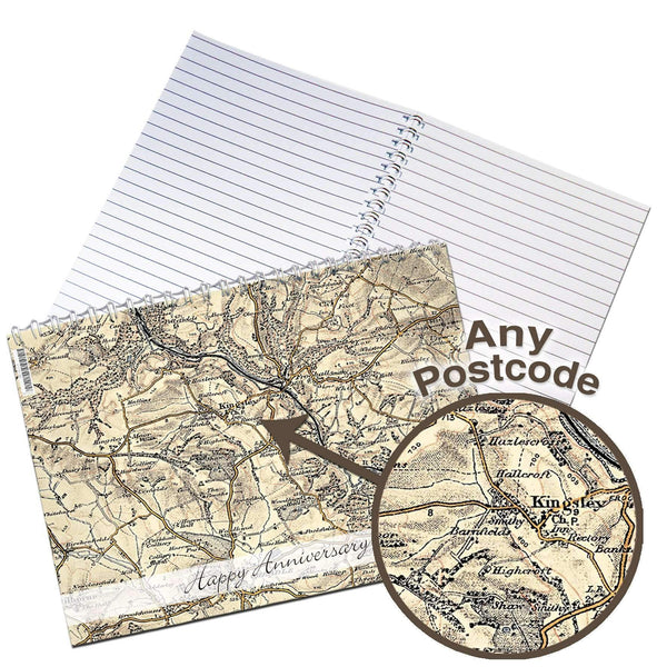 Personalised 1896 - 1904 Revised New Map A5 Notebook