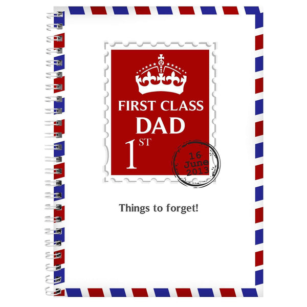 Personalised 1st Class A5 Notebook