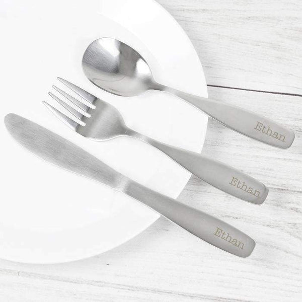 Personalised 3 Piece Cutlery Set