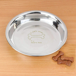 Personalised A Dogs Dream Engraved Dog Bowl