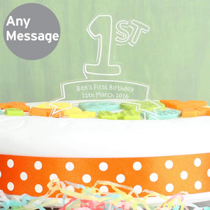 Personalised Acrylic '1st' Celebration Cake Topper