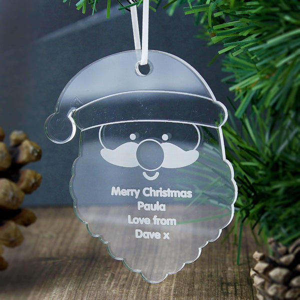 Personalised Acrylic Santa Decoration